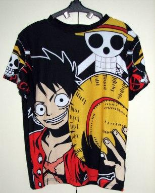 חולצה וואן פיס One Piece [שחור] *אזל המלאי*