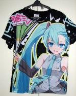 חולצה מיקו [ווקאלויד]Miku Vocaloid [שחור] *אזל המלאי*