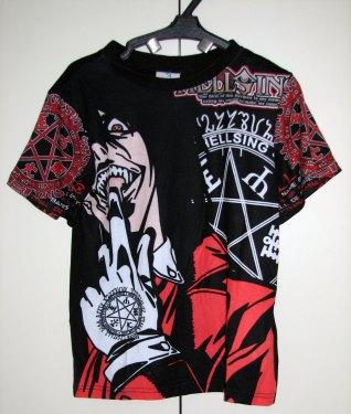 חולצה הלסינג Hellsing [שחור] *אזל המלאי*