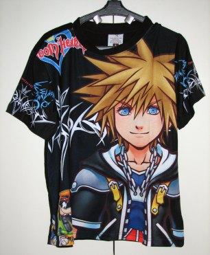 חולצה קינגדום הארטס Kingdom Hearts [שחור] *אזל המלאי*